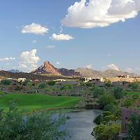 USA, Arizona, Fountain Hills. The Golf Course and scenery at Eagle Mountain.