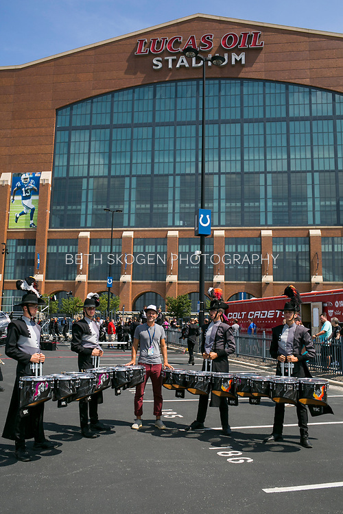 Shadow Drum and Bugle Corps perform at Lucus Oil Stadium in Indianapolis, Indiana on August 8, 2019. <br /> <br /> Beth Skogen Photography - www.bethskogen.com