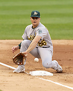 CHICAGO - AUGUST 10:  Matt Chapman #26 of the Oakland Athletics fields against the Chicago White Sox on August 10, 2019 at Guaranteed Rate Field in Chicago, Illinois.  (Photo by Ron Vesely)  Subject:   Matt Chapman