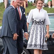 NLD/Terneuzen/20190831 - Start viering 75 jaar vrijheid, Koning Willem Alexander begroet Koning Filip en Koningin Mathilde van België