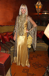 VIRGINIA BATES at a dinner hosted by Ayesha Makim and leading stylist Mohieb Dahabieh to celebrate the forthcoming London Fashion Week held at the exotic restaurant Levant, 76 Wigmore Street, London W1 on 8th September 2005.<br /><br />NON EXCLUSIVE - WORLD RIGHTS