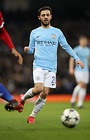 Football - 2017 / 2018 UEFA Champions League - Round of Sixteen, Second Leg: Manchester City (4) vs. FC Basel (0)<br /> <br /> Bernardo Silva of Manchester City at The Etihad.<br /> <br /> COLORSPORT