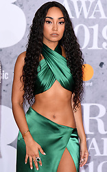 Leigh-Anne Pinnock of Little Mix attending the Brit Awards 2019 at the O2 Arena, London. Photo credit should read: Doug Peters/EMPICS Entertainment. EDITORIAL USE ONLY