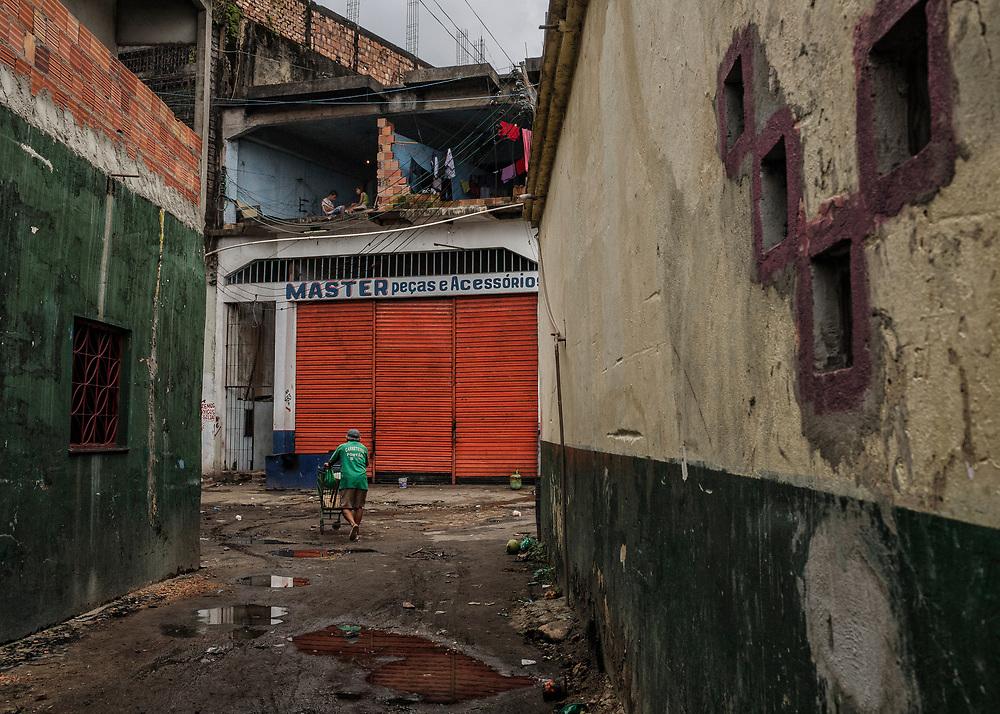Brazil, Amazonas, rio Negro, Manaus. Quartier du port.