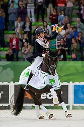 Charlotte Dujardin and Valegro world champion Grand Prix Special - Grand Prix Special Dressage - Alltech FEI World Equestrian Games™ 2014 - Normandy, France.<br /> © Hippo Foto Team - Leanjo de Koster<br /> 25/06/14