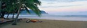Outrigger Canoe, Hanalei Bay, Hanalei, Kauai, Hawaii<br />