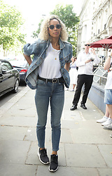 Leona Lewis arrives at a studio in west London, to help with the recording of a charity single after Simon Cowell pledged to record a new track within the next few days to help raise funds for those affected by the Grenfell Tower fire.