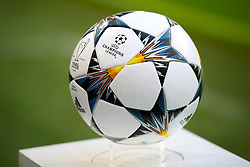 The matchday ball ahead of the match