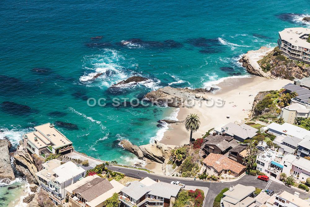 Table Rock Beach in Laguna Beach California Aerial Stock Photo