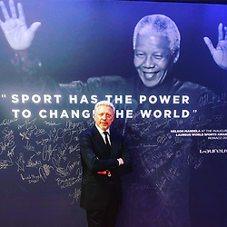 """Boris Becker releases a photo on Instagram with the following caption: """"#word ...#laureus19 #monaco\ud83c\uddee\ud83c\udde9"""". Photo Credit: Instagram *** No USA Distribution *** For Editorial Use Only *** Not to be Published in Books or Photo Books ***  Please note: Fees charged by the agency are for the agency's services only, and do not, nor are they intended to, convey to the user any ownership of Copyright or License in the material. The agency does not claim any ownership including but not limited to Copyright or License in the attached material. By publishing this material you expressly agree to indemnify and to hold the agency and its directors, shareholders and employees harmless from any loss, claims, damages, demands, expenses (including legal fees), or any causes of action or allegation against the agency arising out of or connected in any way with publication of the material."""