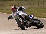 AMA Pro rider Monte Frank on KTM supermoto bike at racetrack
