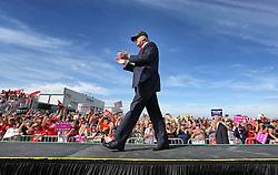 Republican presidential candidate Donald Trump arrives for a tarmac rally, at Orlando-Sanford International Airport, on October 25, 2016, in Sanford, FL, USA. Photo by Joe Burbank/Orlando Sentinel/TNS/ABACAPRESS.COM