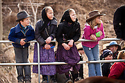 Amish children during the Annual Mud Sale to support the Fire Department  in Gordonville, PA.