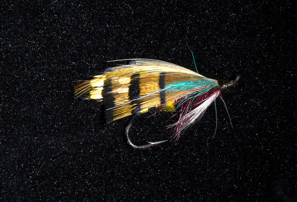 Very old, hand-tied, Atlantic Salmon fly  pattern.