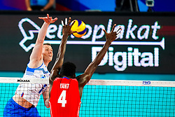 Toncek Stern of Slovenia vs Marlon Yang Herrera of Cuba during volleyball match between Cuba and Slovenia in Final of FIVB Volleyball Challenger Cup Men, on July 7, 2019 in Arena Stozice, Ljubljana, Slovenia. Photo by Matic Klansek Velej / Sportida