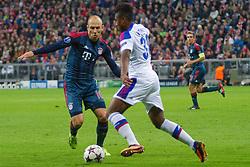 17-09-2013 VOETBAL: UEFA CL FC BAYERN MUNCHEN - CSKA MOSKOU: MUNCHEN<br /> Arjen Robben (FCB #10) im kampf mit Vitinho (CSKA #31) <br /> ***NETHERLANDS ONLY***<br /> ©2013-FotoHoogendoorn.nl