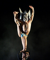 Cloud Gate Dance Theatre of Taiwan <br /> at Sadler's Wells, London, Great Britain <br /> press photocall<br /> 21st February 2014 <br /> Nine Songs <br /> <br /> Directed by award-winning choreographer Lin Hwai-min, Cloud Gate Dance Theatre of Taiwan was the first contemporary dance company in any Chinese speaking community. The company is known for transforming ancient aesthetics into thrillingly original performances that draw on diverse disciplines, and for visually spectacular sets.<br />  <br /> Based on a series of classical Chinese poems by Qu Yuan, Nine Songs (1993) is one of the company's best known works and has been received to great acclaim across the globe. Rice is a Sadler's Wells commission that was created to celebrate Cloud Gate's 40th anniversary. Inspired by the landscape and story of Chihshang in the East Rift Valley of Taiwan, it is a stunning, thought-provoking piece.<br /> <br /> Huang Mei-ya (The Goddess of the Xiang River) <br /> <br /> <br /> <br /> Chen Wei-an (The God of the Clouds) <br /> <br /> <br /> <br /> Photograph by Elliott Franks