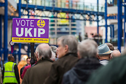 © Licensed to London News Pictures. 17/02/2018. Birmingham UK. Ukip is holding an EGM today at the International Convention Centre in Birmingham to decide weather the party members will either back Henry Bolton as the party leader or endorse the No Confidence vote of the National Executive Committee.  Photo credit: Andrew McCaren/LNP