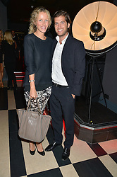 JACK & KATE FREUD at a party to celebrate the launch of the new club Charlie, 15 Berkeley Street, London on 9th September 2015.