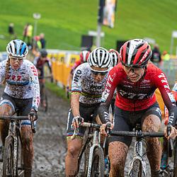 2019-10-19: Cycling: Superprestige: Boom: Alice Maria Arzuffi leading the peloton