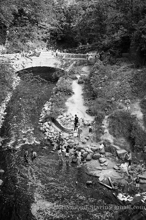 Minnehaha Falls Creek at Minnehaha Park