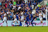 Cardiff City forward Kieffer Moore  (10) clams for a penalty  during the EFL Sky Bet Championship match between Cardiff City and Bournemouth at the Cardiff City Stadium, Cardiff, Wales on 18 September 2021.