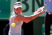 Roland Garros 2011. Paris, France. May 25th 2011..Canadian player Aleksandra WOZNIAK against Caroline WOZNIACKI