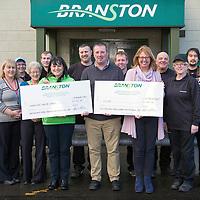 Branston Potatoes Charity Cheque Presentations