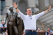 "U.S. Senator Ted Cruz (R-TX) addresses a gathering of evangelical Christians during the ""Stand With God"" rally  August 29, 2015 in Columbia, SC. Thousands of conservative Christians gathered at the State House to rally against gay marriage and listen to GOP presidential candidates Gov. Rick Perry and Sen. Ted Cruz speak."