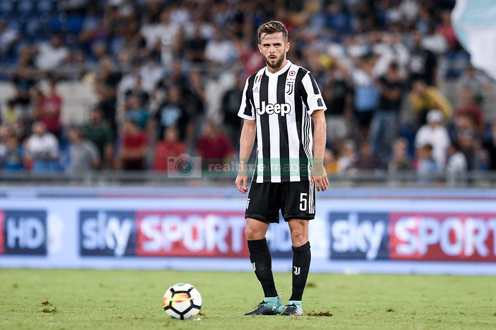August 13, 2017 - Rome, Italy - Miralem Pjanic of Juventus during the Italian Supercup Final match between Juventus and Lazio at Stadio Olimpico, Rome, Italy on 13 August 2017. (Credit Image: © Giuseppe Maffia/NurPhoto via ZUMA Press)