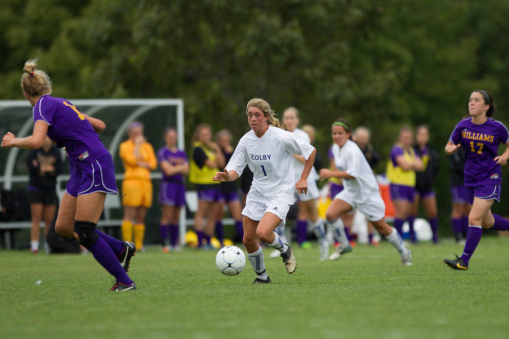 Annie Papadellis, of Colby College, in an NCAA Division III college soccer game against Williams College at Colby College, Saturday Sept. 7, 2012 in Waterville, ME. (Dustin Satloff/Colby College Athletics)
