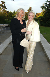 Left to right, PAULA BECKWITH and her daughter CLARE VAN DAM at 'Horticouture' a charity fashion show to raise funds for Tommy's, the baby charity and The Royal Botanic Gardens, Kew held at Kew on 12th May 2005.<br />