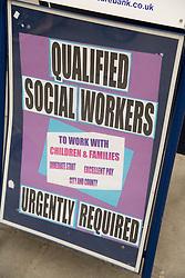 Social worker recruitment poster,