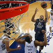 Anadolu Efes's Alfred Jamon Lucas (2ndR) during their Turkish Airlines Euroleague Basketball Game 10 match Anadolu Efes between Real Madrid at the Abdi ipekci Arena in Istanbul, Turkey, Thursday, December 19, 2013. Photo by Aykut AKICI/TURKPIX