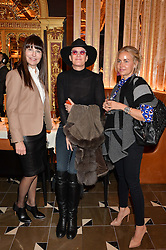 Left to right, Renee Harbers, Emmanuelle Duperre and Emilie Martinsen at the Cash & Rocket Tour Announcement Launch Lunch in association with McArthur Glen was held at The Grill, The Dorchester, Park Lane, London on 12th March 2015.