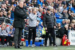Cardiff City Manager Russell Slade looks on - Photo mandatory by-line: Rogan Thomson/JMP - 07966 386802 - 28/02/2015 - SPORT - FOOTBALL - Cardiff, Wales - Cardiff City Stadium - Cardiff City v Wolverhampton Wanderers - Sky Bet Championship.