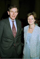 MR & MRS DENNIS STEVENSON he is chairman of The Tate Gallery, at a reception in London on 21st July 1997.MAN 130
