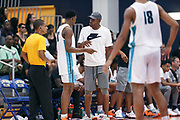 THOUSAND OAKS, CA Sunday, August 12, 2018 - Nike Basketball Academy. Ron Harper shares wisdom with DJ Jeffries 2019 #13 of Olive Branch HS. <br /> NOTE TO USER: Mandatory Copyright Notice: Photo by Jon Lopez / Nike