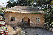 Israel, Lower Galilee, Kibbutz Alonim founded 1938 Old house used by the original settlers