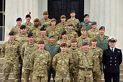 ***UNDER STRICT EMBARGO UNTIL 00:01 22nd MARCH 2013 *** © Licensed to London News Pictures. 21/03/2013. Sandhurst, UK Recipients of honours at a media facility today 21/03/13 at the Royal Military Academy, Sandhurst, ahead of the publication of the full 'operational honours list 40' to be published in the London Gazette on Friday March 22nd 2013.  Photo credit : Stephen Simpson/LNP