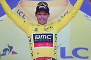 Podium, Greg Van Avermaet (BEL - BMC) Yellow jersey during the 105th Tour de France 2018, Stage 6, Brest - Mur de Bretagne Guerledan (181km) in France on July 12th, 2018 - Photo George Deswijzen / Proshots / ProSportsImages / DPPI