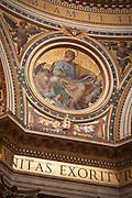 Gold mosaic, interior of St. Peter's Church, Vatican City.
