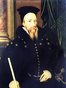 William Cecil, 1st Baron Burghley, by unknown artist. Oil painting