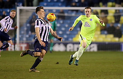 Ben Thompson of Millwall controls the ball away from Chris Forrester of Peterborough United - Mandatory by-line: Joe Dent/JMP - 28/02/2017 - FOOTBALL - The Den - London, England - Millwall v Peterborough United - Sky Bet League One