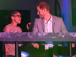 Prince Harry and Meghan Markle's Mother, Doria Ragland attend The Invictus Games 2017 Closing Ceremony at the Air Canada Centre, Toronto, Ontario, Canada, on the 30th September 2017. 01 Oct 2017 Pictured: Prince Harry and Meghan Markle's Mother, Doria Ragland attend The Invictus Games 2017 Closing Ceremony at the Air Canada Centre, Toronto, Ontario, Canada, on the 30th September 2017. Picture by James Whatling. Photo credit: James Whatling / MEGA TheMegaAgency.com +1 888 505 6342