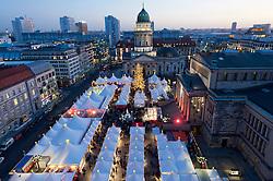Christmas market at Gendarmenmarkt in Berlin Germany 2011