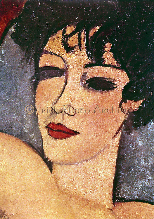 Sleeping Nude' (detail): Amedeo Modigliani (1884-1920) Italian painter and sculptor.