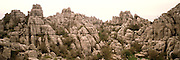 SPAIN, ANDALUSIA El Torcal Mountains, fantastic eroded limestone formations near Antequera north of Malaga
