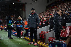 LIVERPOOL, ENGLAND - Wednesday, March 11, 2020: Liverpool's manager Jürgen Klopp before during the UEFA Champions League Round of 16 2nd Leg match between Liverpool FC and Club Atlético de Madrid at Anfield. (Pic by David Rawcliffe/Propaganda)
