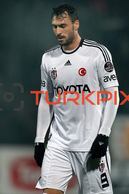 Besiktas's Hugo Almedia during their Turkish Superleague soccer match Ankaragucu between Besiktas at the 19 Mayis stadium in Ankara Turkey on Sunday 08 January 2012. Photo by TURKPIX